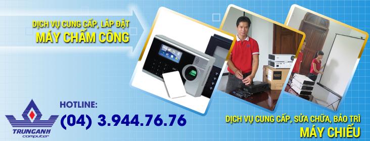 cung cấp lắp đặt máy chấm công, cung cấp, sửa chữa, bảo trì máy chiếu