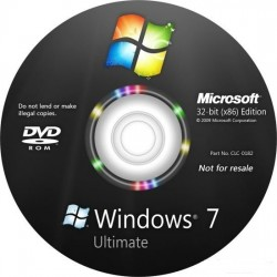 Windows Ultimate 7 SP1 32-bit English DSP 3 OEI DVD