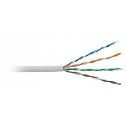 AMP Category 5E UTP Cable (350MHz), 4-Pair, 24AWG, Solid, CMR, 305m, White 6-57826-2