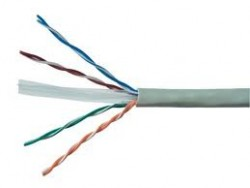 AMP Category 5e UTP Cable (200MHz), 4-Pair, 24AWG, Solid, CM, 305m, White 6-219590-2