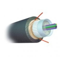 AMP 1-1859401-4 Fiber Optic Cable, Outside Plant, 6-Fiber, OS2, Figure-8 Construction