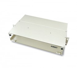 AMP 288234-1 Fiber Optic Rack Mount Patch Enclosure, 2U, Light Metal, Unloaded