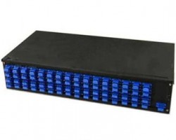 AMP 2-1206138-4 Fiber Optic Rack Mount Patch Enclosure, 1U, Duplex SC, 12-Fiber, MM