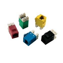 AMP Category 6 Modular Jack, Unshielded, RJ45, SL, T568A/B, Almond 1375055-1
