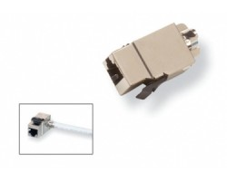 AMP Category 5E Modular Jack, Shielded, RJ45, SL, T568A/B, Almond 1375189-1