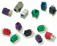 AMP Category 5E Modular Jack, Unshielded, RJ45, SL, T568A/B, Almond 1375191-1