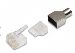 AMP Category 6 Modular Plug, RJ45, 24-23AWG, Solid 5-1479185-3