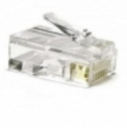 AMP Category 5e Modular Plug, Unshielded, RJ45, 24AWG, Stranded 5-558530-2