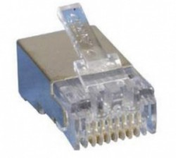 AMP Category 3 Modular Plug, Shielded, RJ45, 26-24AWG, Solid 5-569530-3