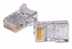 AMP Category 3 Modular Plug, Unshielded, RJ45, 26-24AWG, Solid 5-557315-3