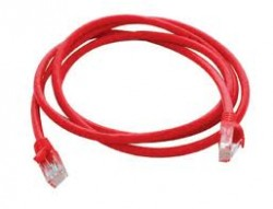 AMP 1-1859249-0 Category 6 Cable Assembly, Unshielded, RJ45-RJ45, SL, 10Ft, Red
