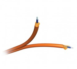 AMP 1-1859425-2 Fiber Optic Cable, Interconnect, 2-Fiber (Zipcord), OM2, 3.0mm, OFNR