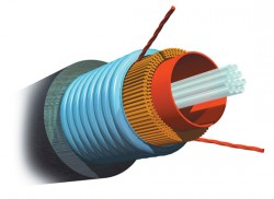 AMP 1-1427431-2 Fiber Optic Cable, Outside Plant, 4-Fiber, OM2, Armored Jacket