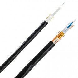 AMP 1-1427451-4 Fiber Optic Cable, Outside Plant, 8-Fiber, OS2, Dielectric Jacket